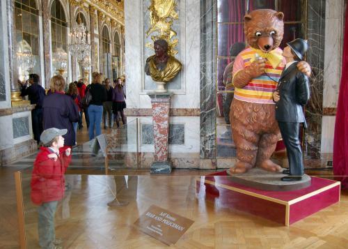 Vystavené exponáty ve Versailles