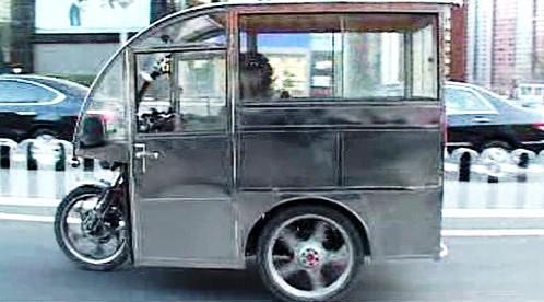 Čínský tříkolový taxík