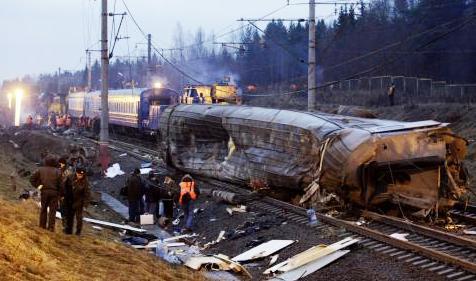 Železniční neštěstí v Rusku