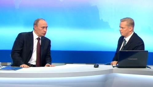 Vladimir Putin při televizní debatě