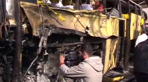 Výbuch autobusu v Sýrii