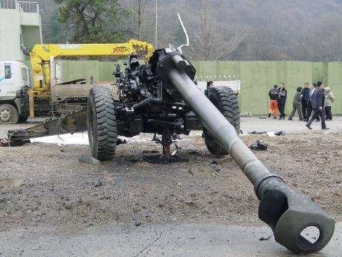 Následky výbuchu v jihokorejsém Pchočchonu