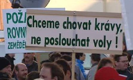 Transparent nespokojených zemědělců