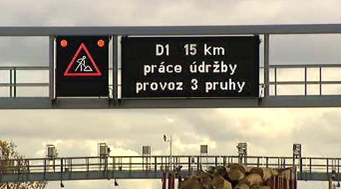 Informační cedule na dálnici