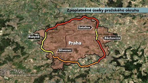 Plánované zpoplatnění Pražského okruhu