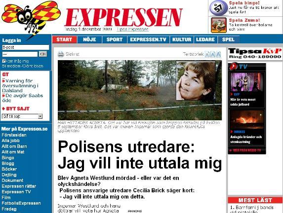 Expressen o kauze Westlundová