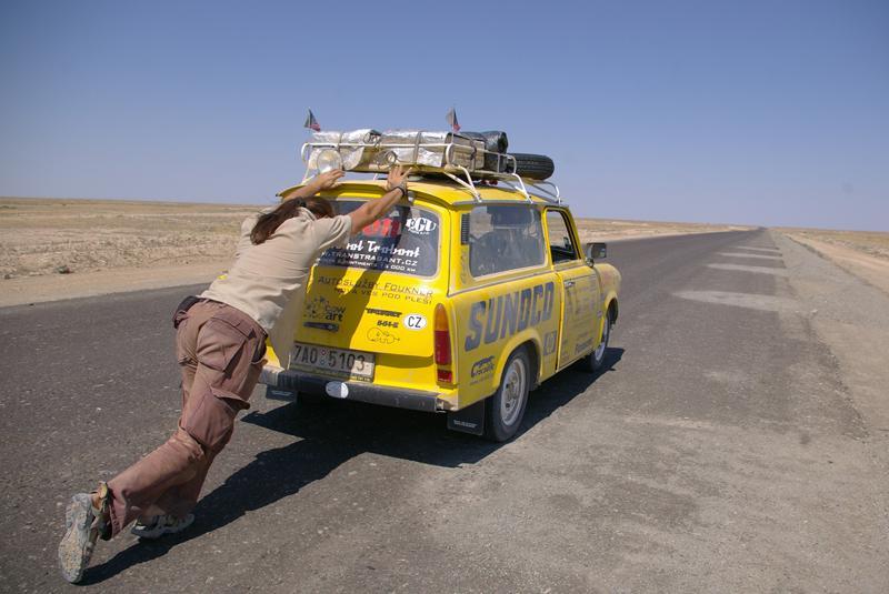 Trabant při africkém cestování