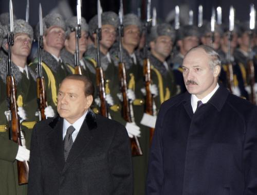 Silvio Berlusconi a Alexandr Lukašenko