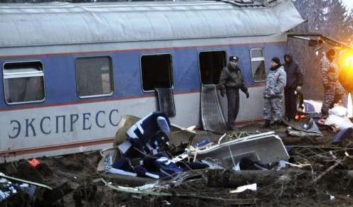 Vlakové neštěstí v Rusku