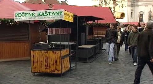 Stánky na Staroměstském náměstí