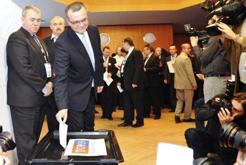 Miroslav Kalousek volí předsedu TOP 09