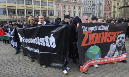 Pochod extremistů v Plzni
