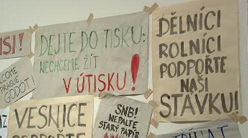 Letáky oholedně stávky v listopadu 1989