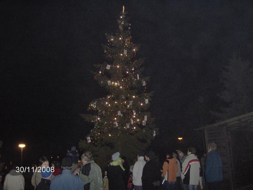 Heřmanova Huť - rozsvícení vánočního stromu 2008