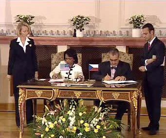 Condoleezza Riceová a Karel Schwarzenberg