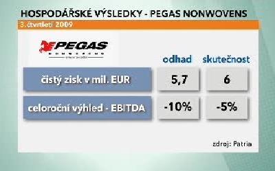Hospodářské výsledky Pegas Nonwovens