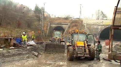 Stavba železničního tunelu