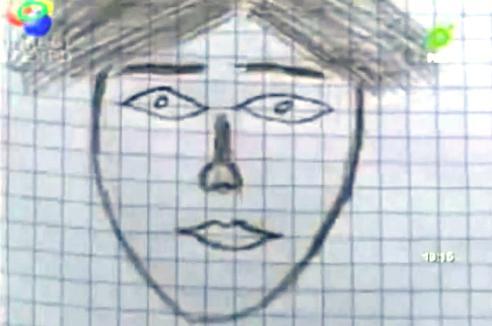 Bizarní portrét hledaného bolivijského vraha