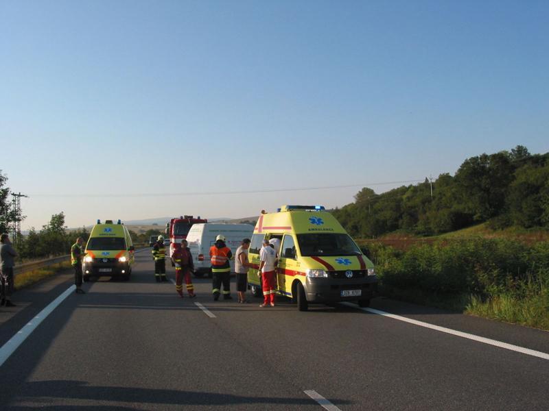 Záchranáři u nehody