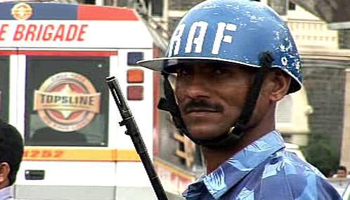 Indický voják v Bombaji