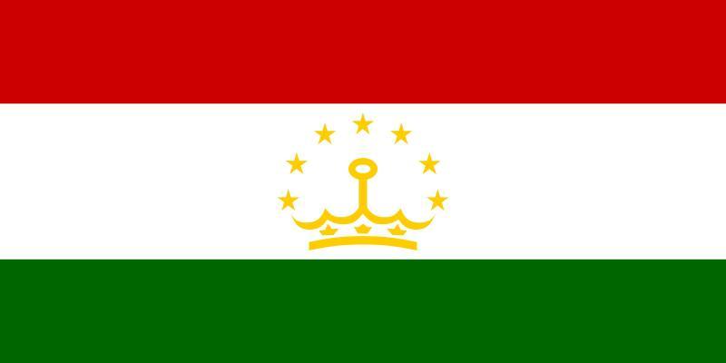 Vlajka Tádžikistánu