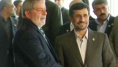 Luiz Inácio Lula da Silva a Mahmúd Ahmadínežád