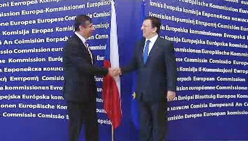Jan Fischer a José Barroso