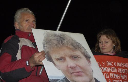 Opoziční aktivisté si připomněli smrt Litviněnka