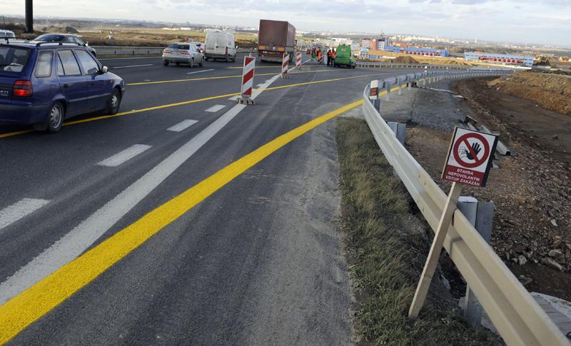 Stavba dálniční křižovatky omezila provoz na D1