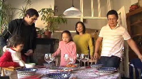 Setkání české a mongolské rodiny na obědě