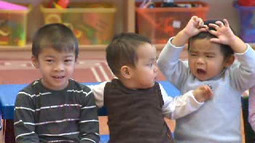 Děti ve vietnamské školce