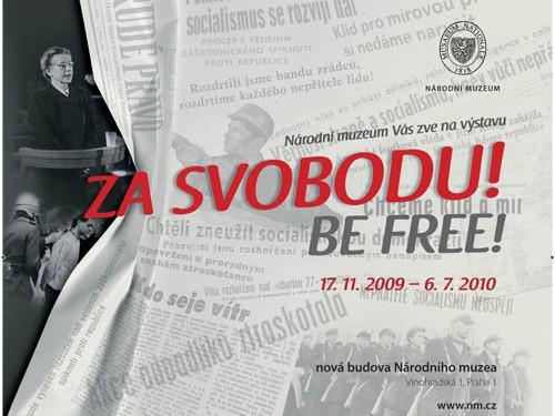 Plakát výstavy Za svobodu! / Be Free!