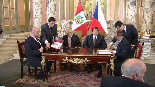 Česká delegace na návštěvě v Peru