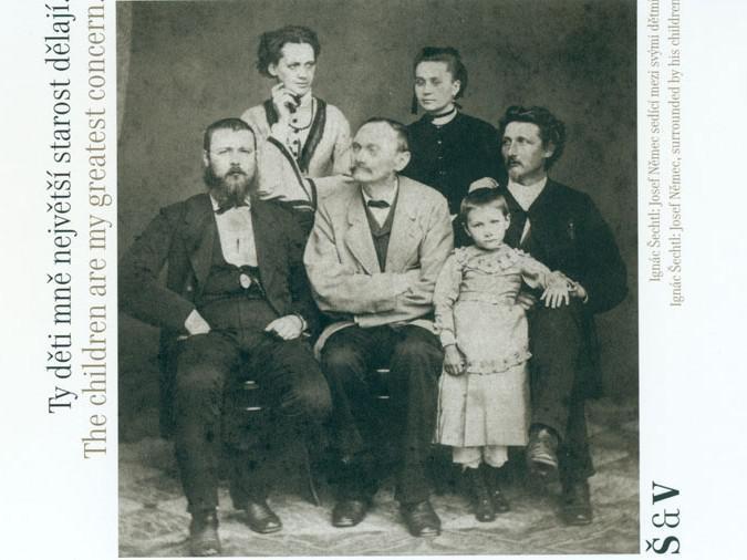 Josef Němec se svými dětmi