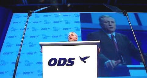 Mirek Topolánek na kongresu ODS