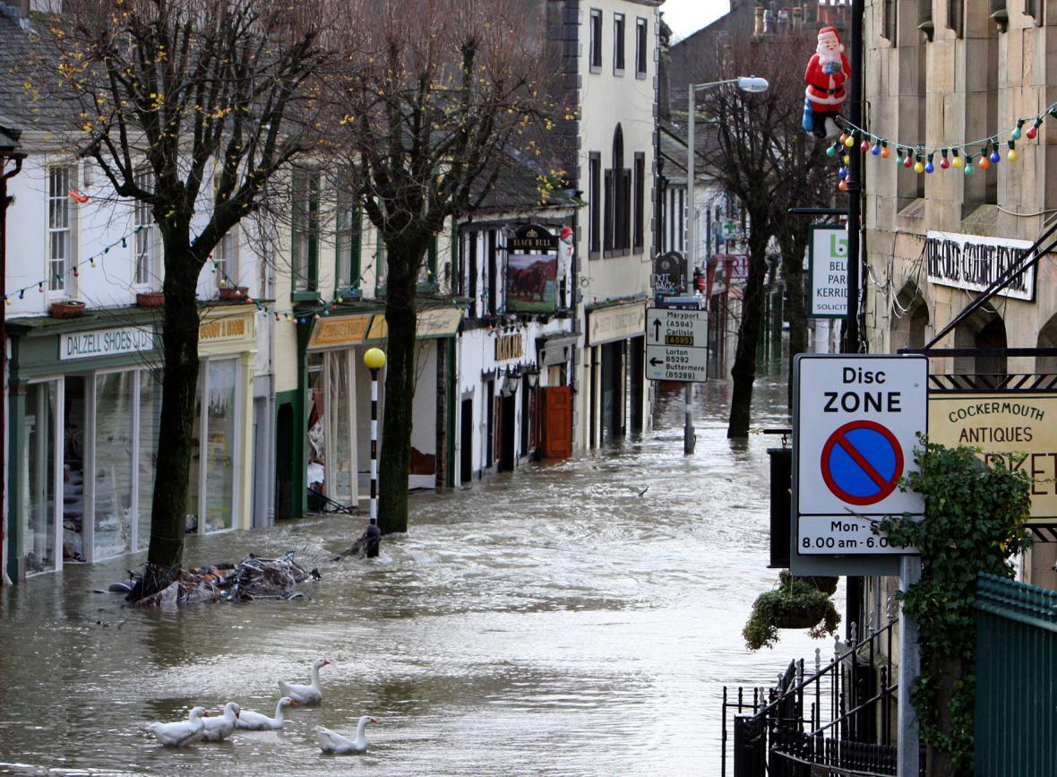 Záplavy v severoanglickém Cockermouthu