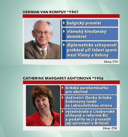 Herman Van Rompuy a Catherine Ashtonová