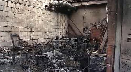 Vyhořelá dílna