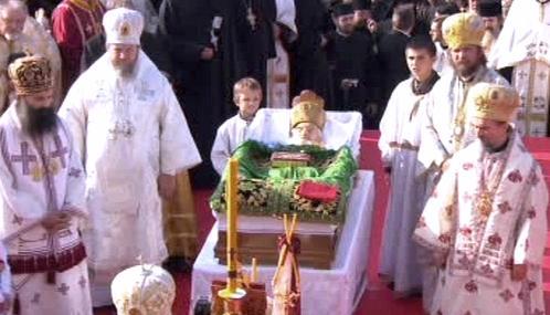 Pohřeb patriarchy Pavleho v Bělehradě