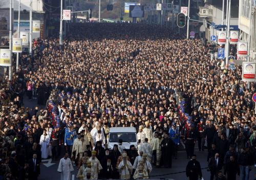Pohřeb patriarchy Pavleho