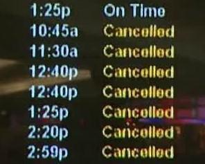 Zrušené lety American Air
