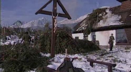 Následky vichřice v Tatrách