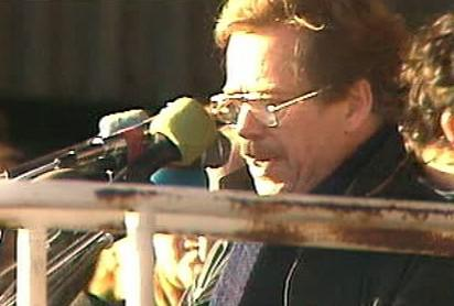 Václav Havel v listopadu 1989