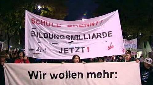 Protesty rakouských studentů