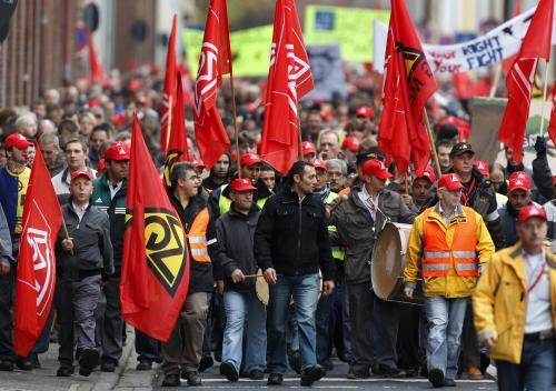 Demonstrace zaměstnanců Opelu
