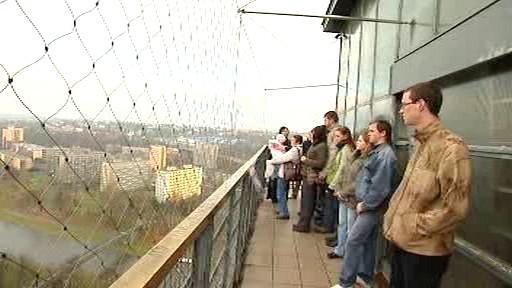 Návštěvníci vyhlídkové věže Nové radnice