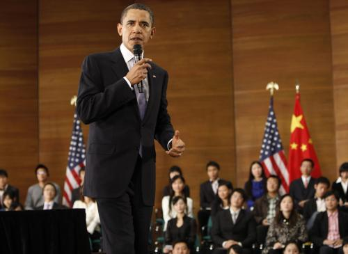 Barack Obama v Číně