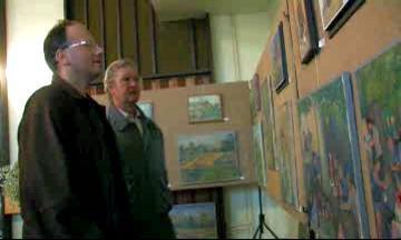 Vernisáž výstavy obrazů