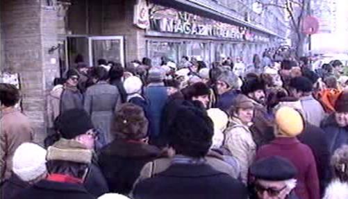 Protesty obyvatel Bukurešti