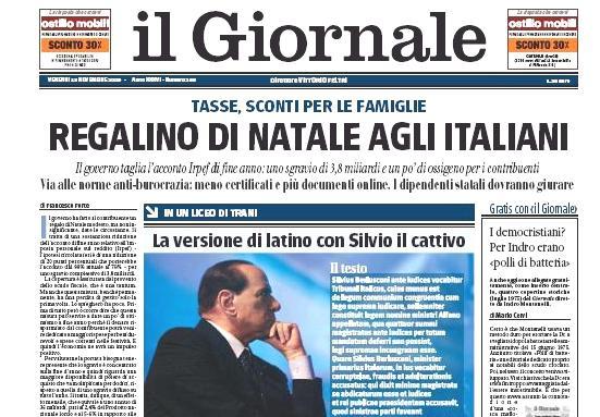 """Il Giornale o Berlusconiho \""""latinské kauze\"""""""